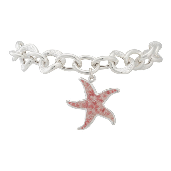 Friends ~ Starfish (Large) Chunky Chain Bracelet - Alexandra Mosher Studio Jewellery Bermuda Fine