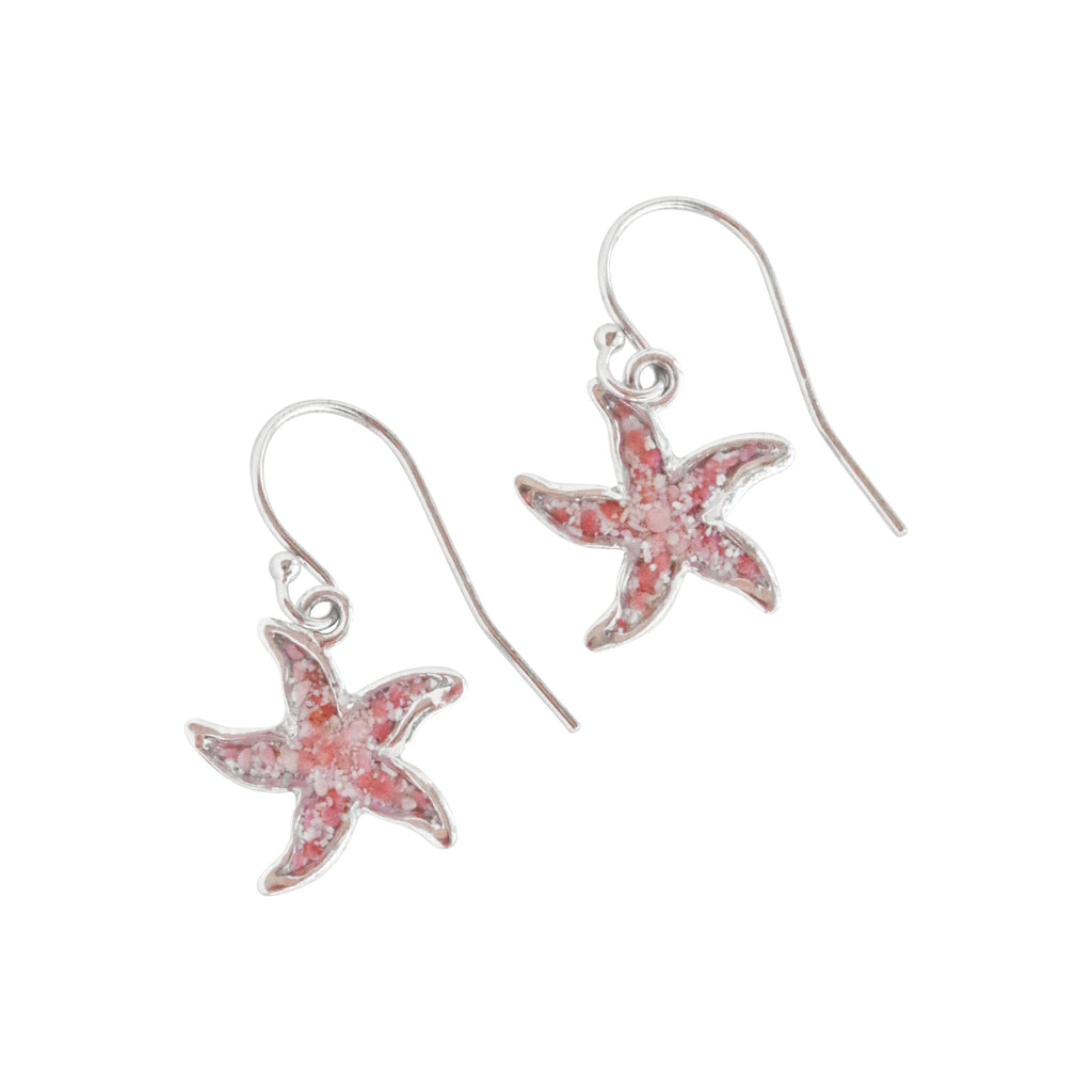 Splash Collection - Petites | Small Starfish 14K Gold Dangle Earrings