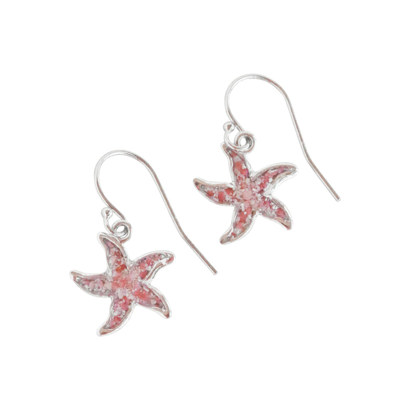 Friends ~ Small Starfish 14K Gold Dangle Earrings