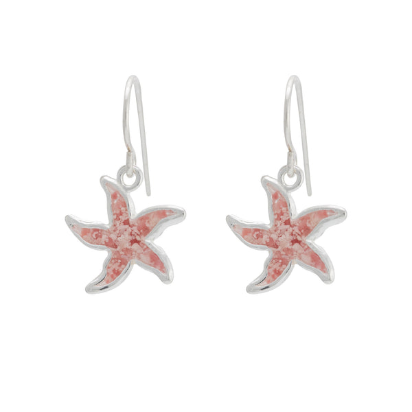 Friends ~ Small Starfish Dangle Earrings - ARCHIVED - Alexandra Mosher Studio Jewellery Bermuda Fine