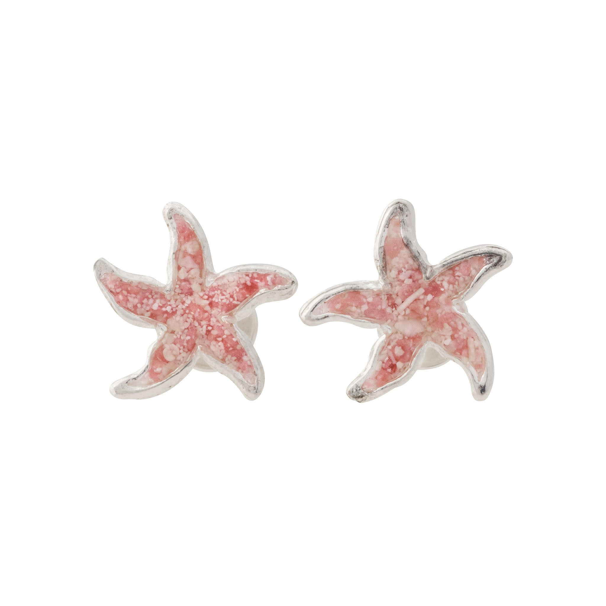 starfish earrings back pearl and stud crystal white front faux