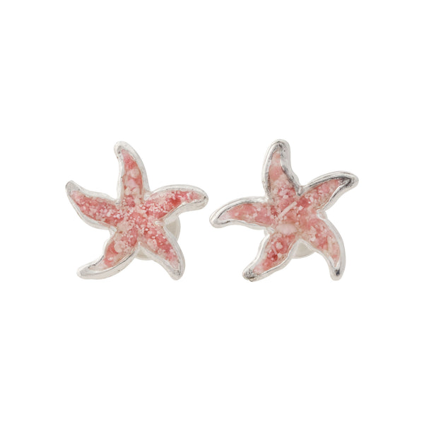 Friends ~  Small Starfish Stud Earrings - Alexandra Mosher Studio Jewellery Bermuda Fine