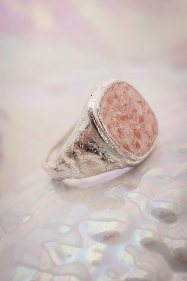 Splash ~ Large Signet Ring - Alexandra Mosher Studio Jewellery Bermuda Fine
