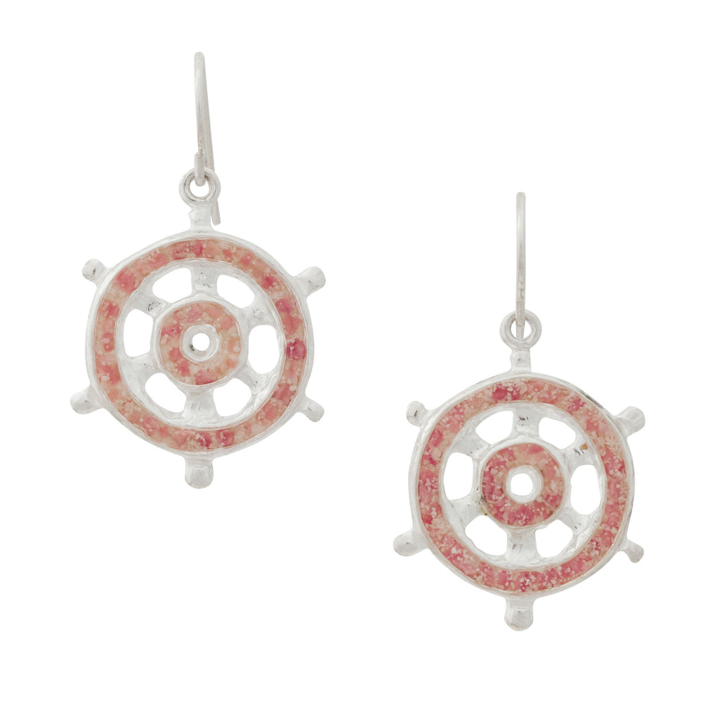 Splash Collection | Sea Venture Ships Wheel Dangle Earrings