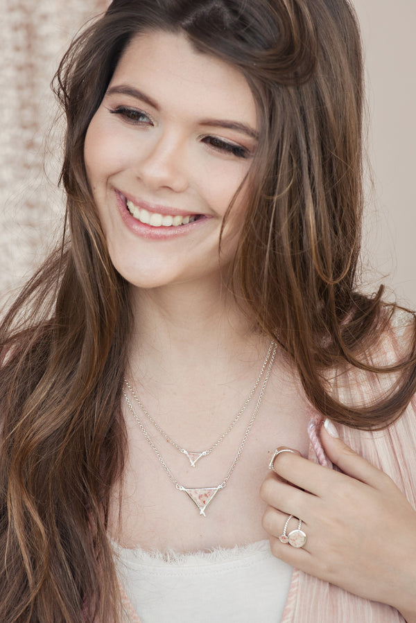 Splash ~ Large Triangle Inline Necklace - ARCHIVED - Alexandra Mosher Studio Jewellery Bermuda Fine