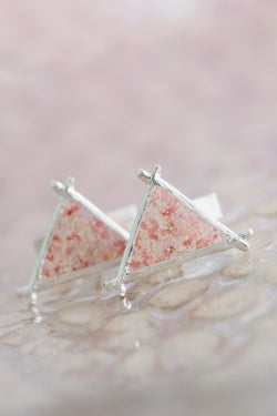 Men's Splash ~ Triangle (Medium) Cufflinks - Alexandra Mosher Studio Jewellery Bermuda Fine