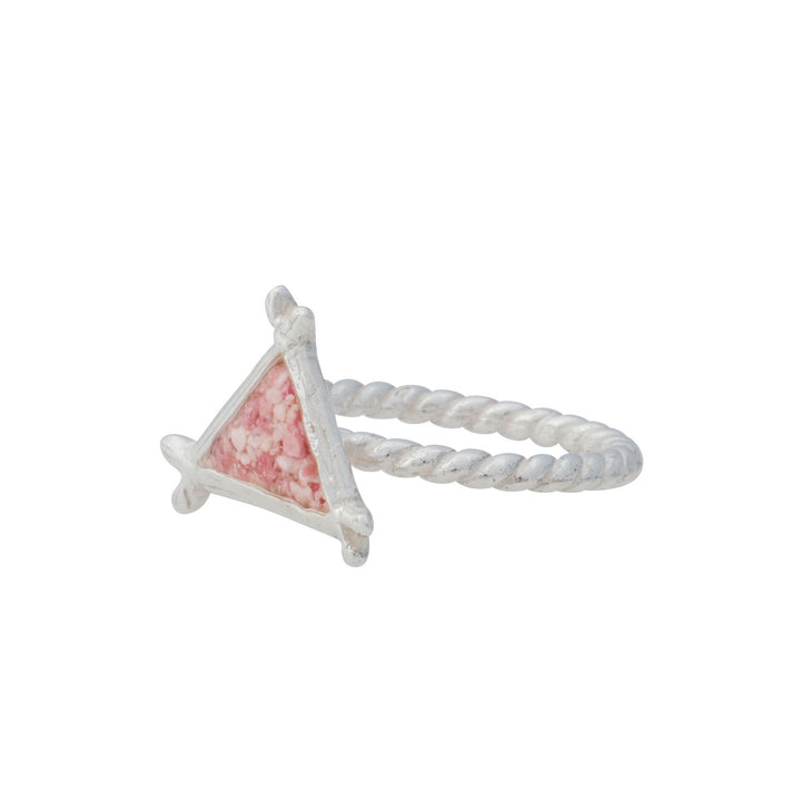 Splash Collection | Small Triangle Braided Band Ring