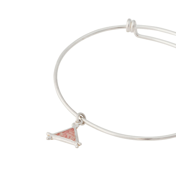 Splash ~ Triangle (Small) Bangle - Alexandra Mosher Studio Jewellery Bermuda Fine