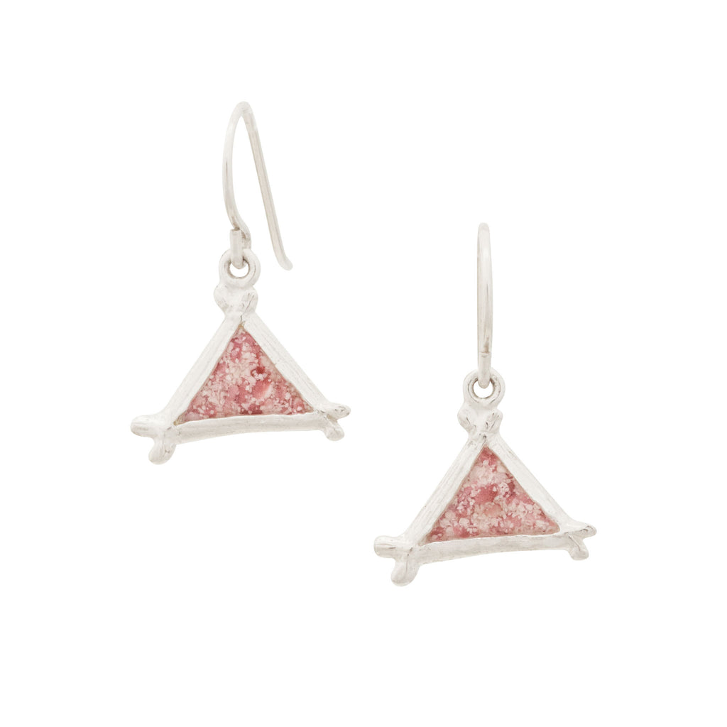 Splash Collection | Small Triangle Dangle Earrings