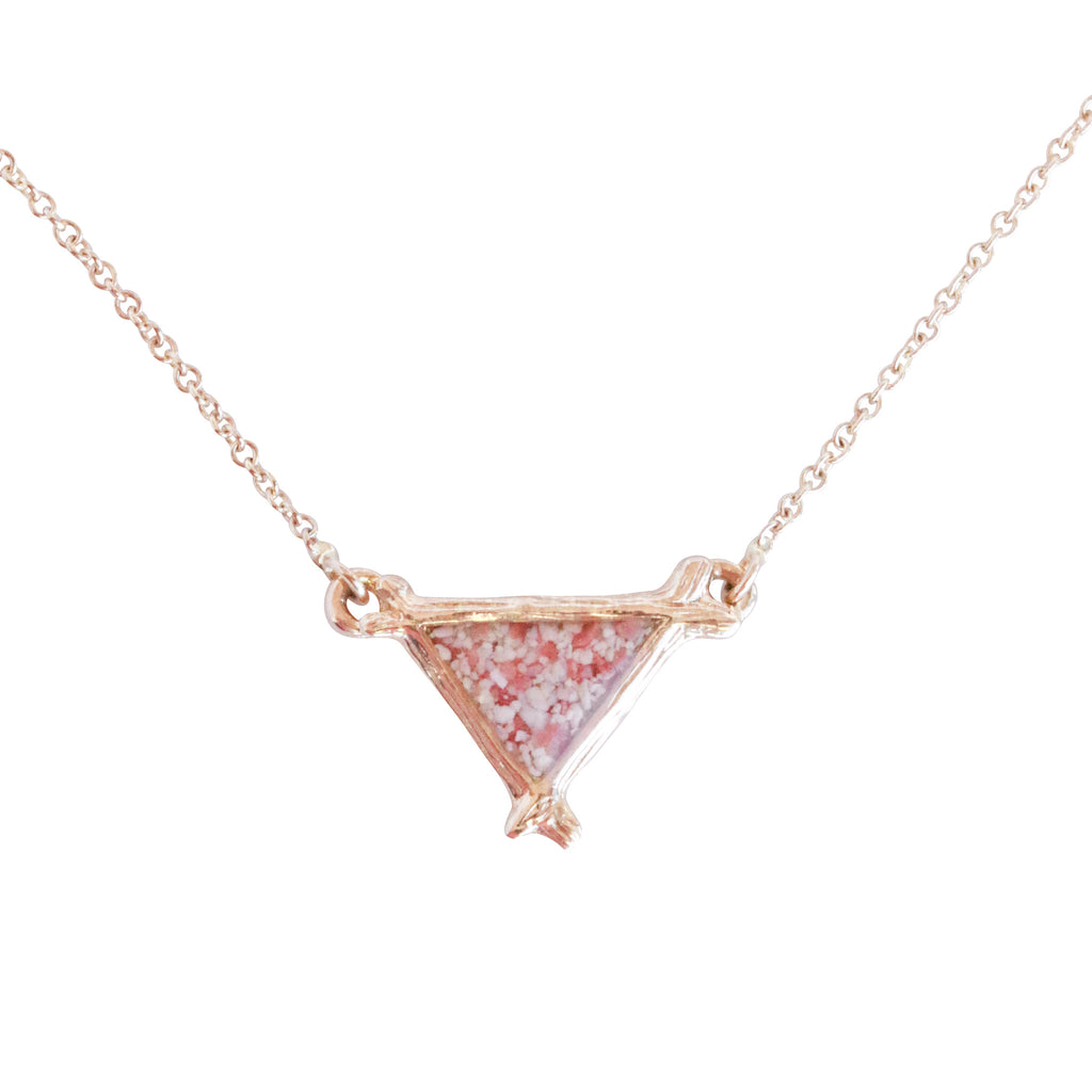 Splash Collection | Small Triangle Inline 14K Gold Necklace