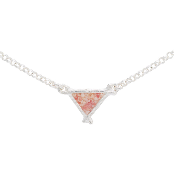 Splash ~ Triangle (Small) Inline Necklace - Alexandra Mosher Studio Jewellery Bermuda Fine