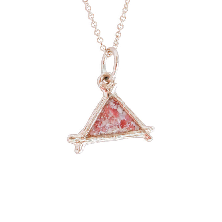 Splash Collection | Small Triangle 14K Gold Pendant