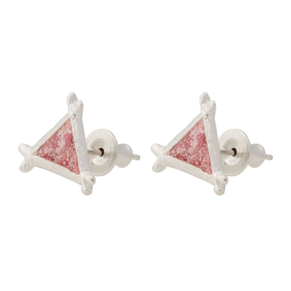 Splash ~ Triangle (Small) Stud Earrings - Alexandra Mosher Studio Jewellery Bermuda Fine