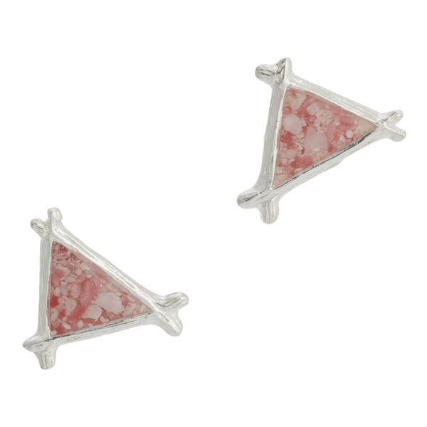 Splash ~ Small Triangle Stud Earrings