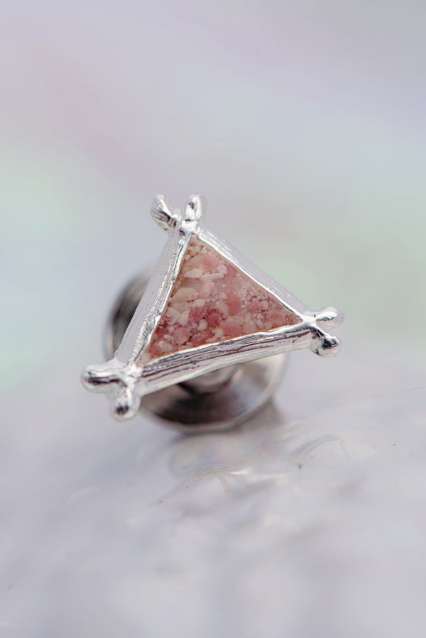Splash ~ Triangle Tie Pin - Alexandra Mosher Studio Jewellery Bermuda Fine