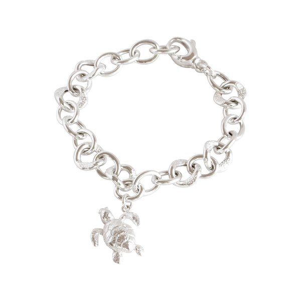 Friends ~ Turtle (Medium) Chunky Chain Bracelet - Alexandra Mosher Studio Jewellery Bermuda Fine