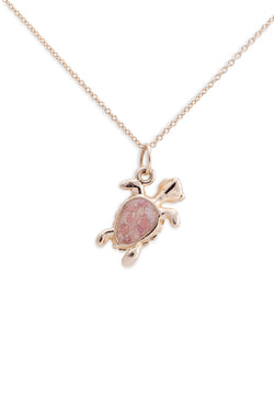Friends ~ Turtle (Small) Pendant in Gold - Alexandra Mosher Studio Jewellery Bermuda Fine