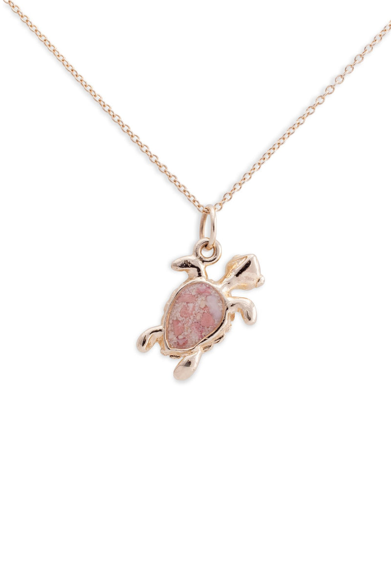 Friends ~ Small Turtle 14k Gold Pendant - Alexandra Mosher Studio Jewellery Bermuda Fine