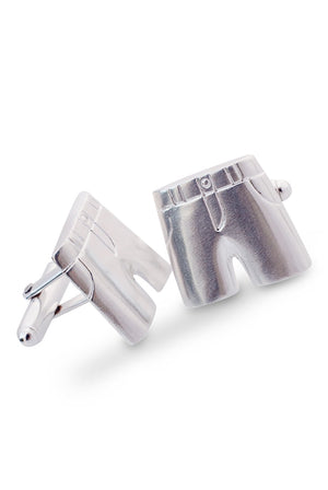 Silver Collection | Bermuda Shorts Cufflinks
