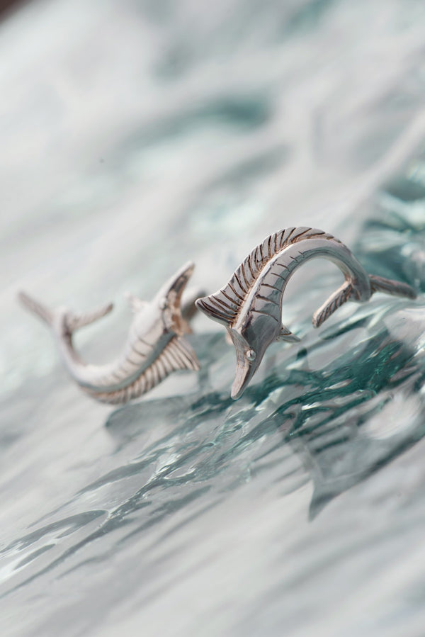 Nautical ~ Marlin Cufflinks - Alexandra Mosher Studio Jewellery Bermuda Fine