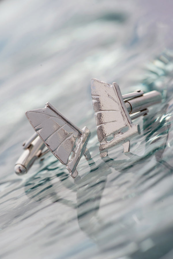 Nautical ~ Opti Cufflinks - Alexandra Mosher Studio Jewellery Bermuda Fine