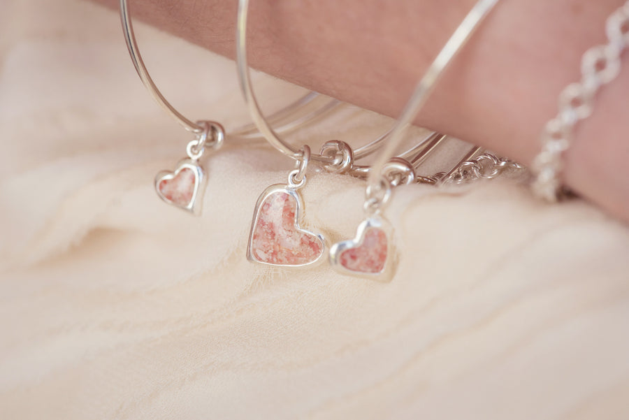 Splash Collection - Petites | Large Heart Bangle