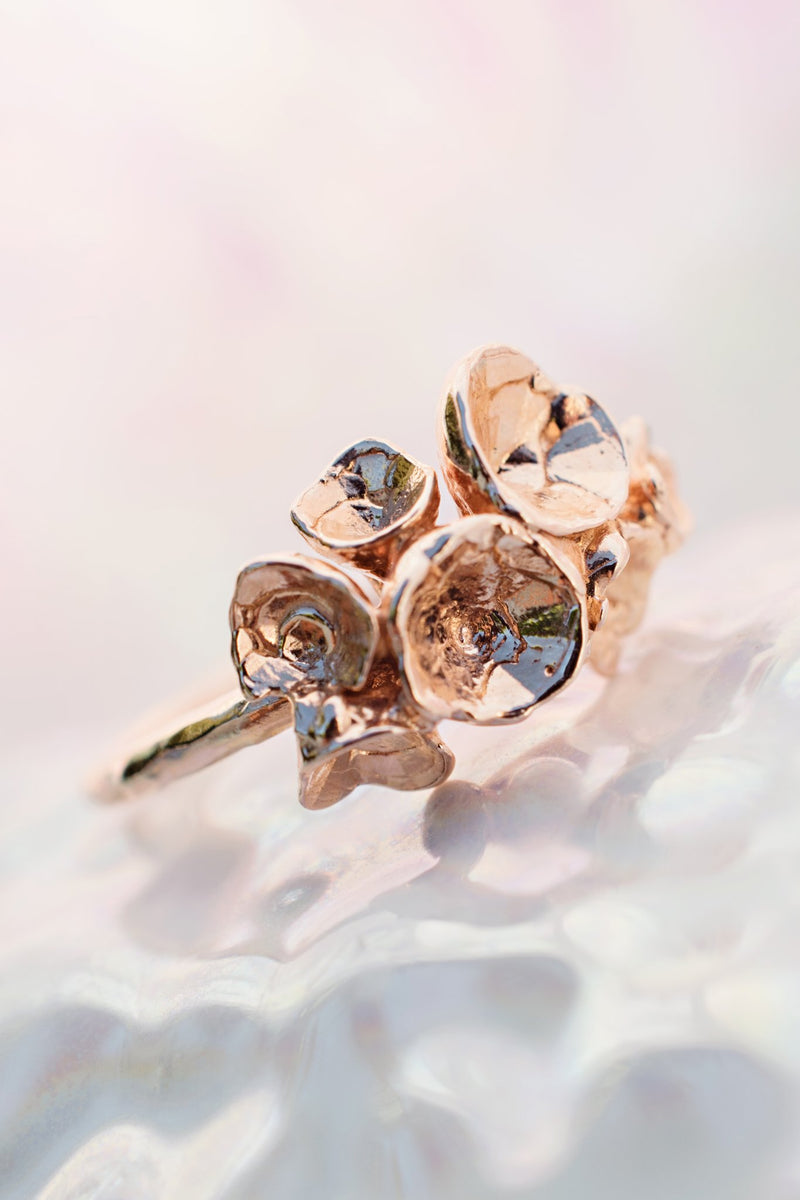 Under the Sea ~ 14K Barnacle Ring - Alexandra Mosher Studio Jewellery Bermuda Fine