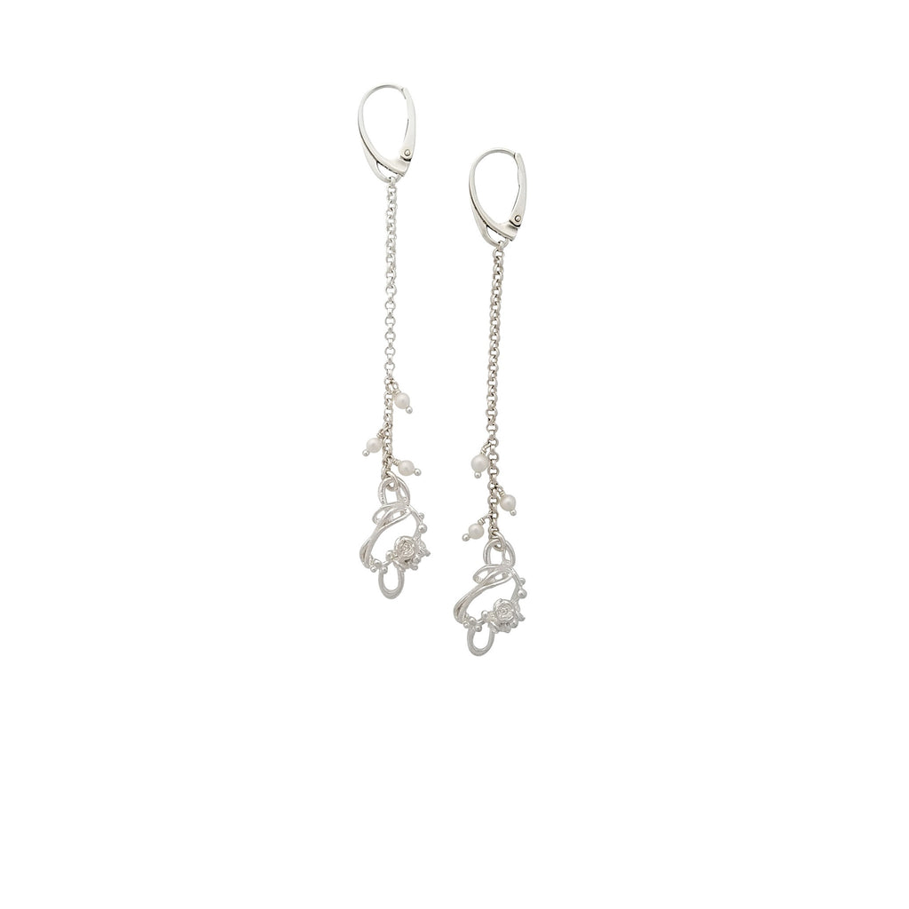 Under The Sea | Small Barnacle Pearl Drop Earrings