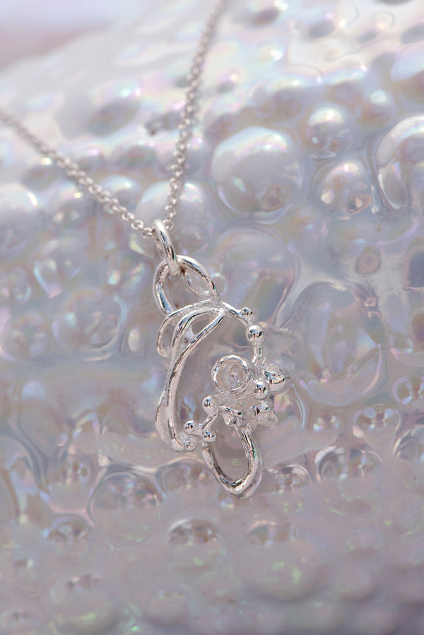 Under the Sea ~ Small Barnacle Link Pendant - Alexandra Mosher Studio Jewellery Bermuda Fine