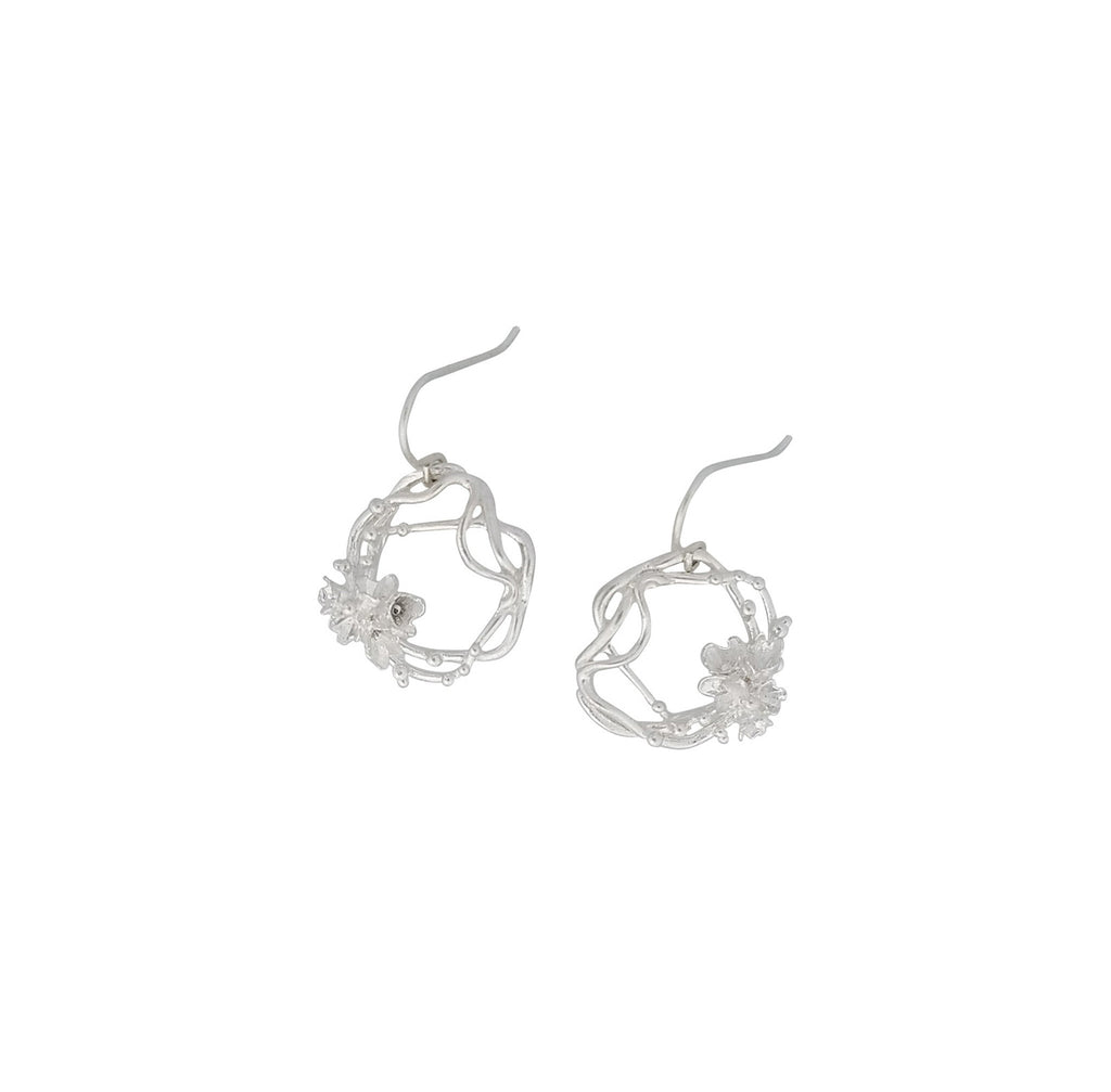 Under The Sea | Medium Barnacle Wreath Drop Earrings