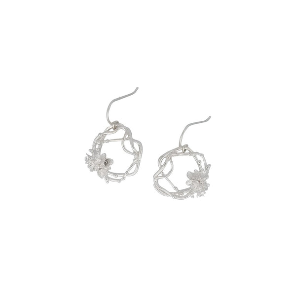 Under the Sea ~ Barnacle Wreath (Medium) Dangle Earrings - Alexandra Mosher Studio Jewellery Bermuda Fine