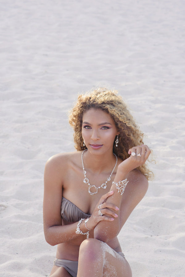 Under the Sea ~ Barnacle Pearl Necklace - Alexandra Mosher Studio Jewellery Bermuda Fine
