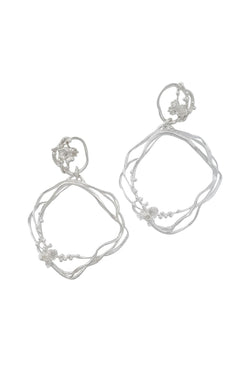 Under the Sea ~ Barnacle Wreath Double-Drop Earrings - Alexandra Mosher Studio Jewellery Bermuda Fine