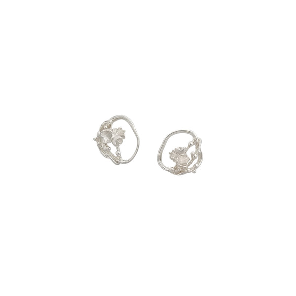 Under the Sea ~ Small Barnacle Wreath Stud Earrings