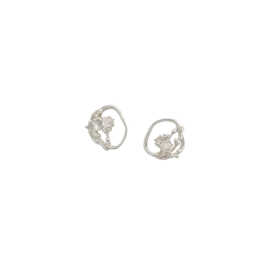 Under The Sea | Small Barnacle Wreath Stud Earrings