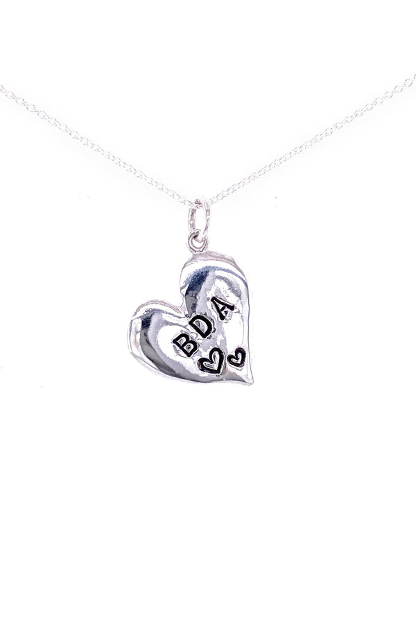 Bermy Vurds ~ Heart Custom Stamped Pendant