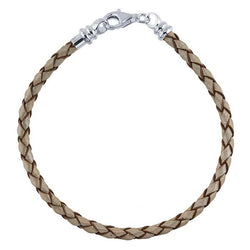 Leather Braided Cord Bracelet - Alexandra Mosher Studio Jewellery Bermuda Fine