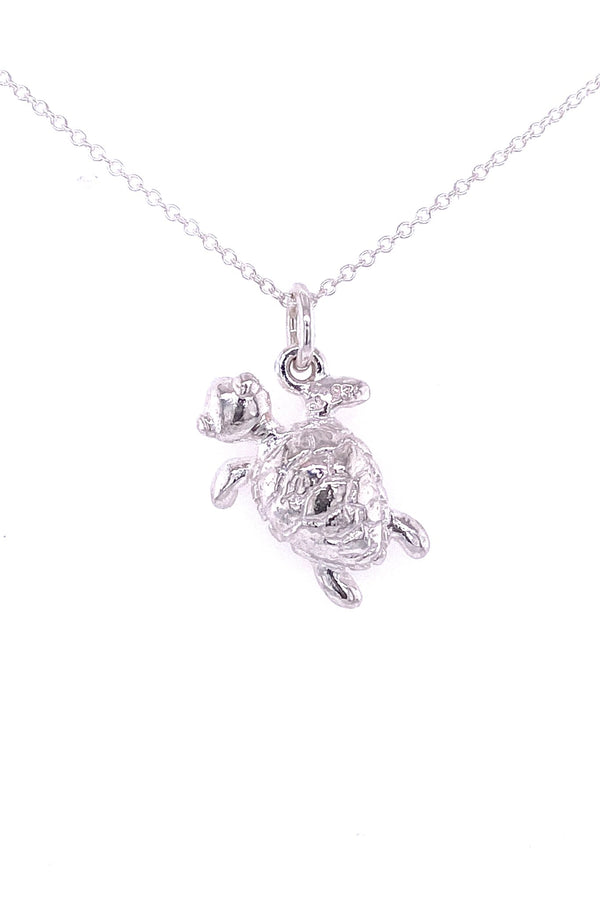 Friends ~ Small Turtle Pendant - Alexandra Mosher Studio Jewellery Bermuda Fine