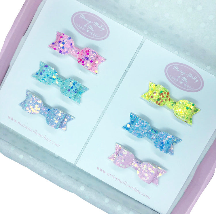 "Classic mini bow set  (2.5"" each"