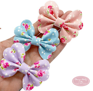 Summer pastel bloom Pixie pinch bow