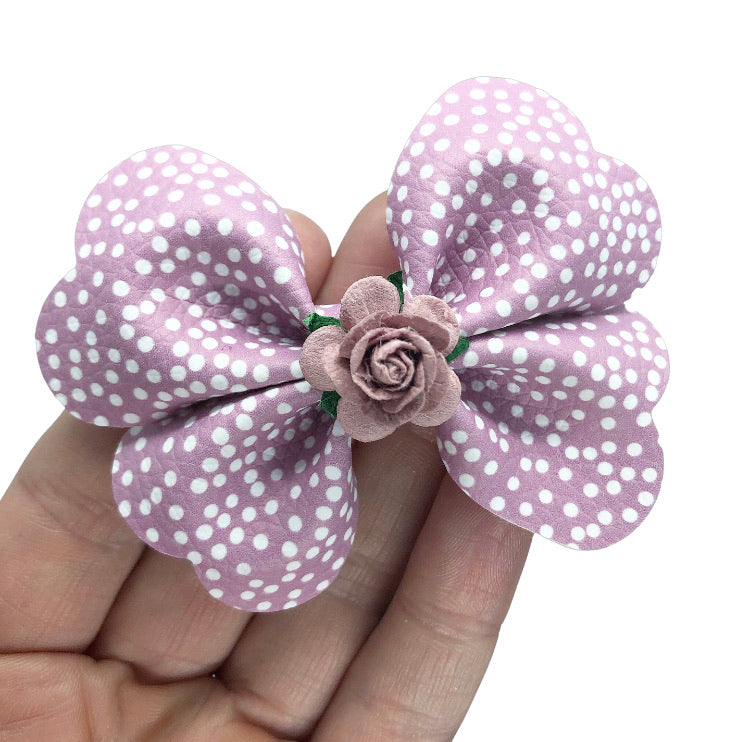Spotty pixie pinch - MAUVE PURPLE /WHITE SPOT