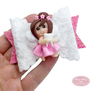 Princess tooth fairy scalloped dolly bow