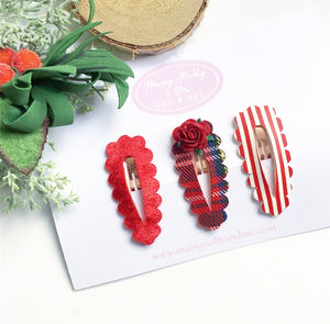 Pack of 3 Christmas snappy clips