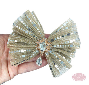 Mirror tulla bling bow