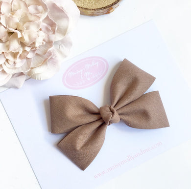 Walnut Double fold knot bow