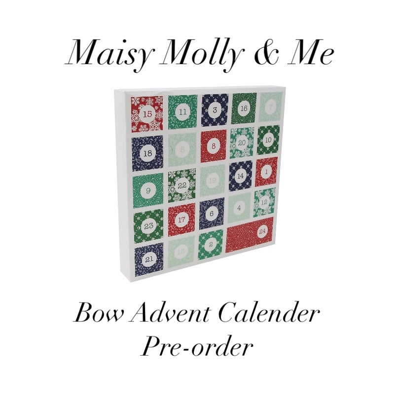 *PRE ORDER*  Bow Advent Calender