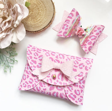 Pouchy purse and bow set