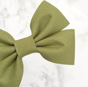 Khaki double fold bow