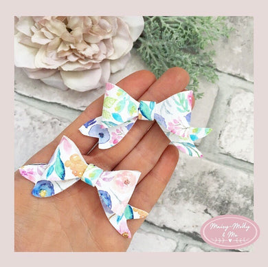Pretty floral pigtail bows