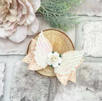 Fairy wings dolly bow